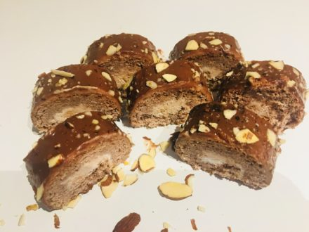 Mini Chocolate Almond Swiss Rolls $31.99 ( #653 )